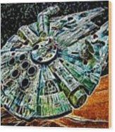 Millenium Falcon Wood Print