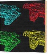 Millennium Falcon Poster Wood Print