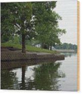 Miller Park Lake Wood Print