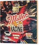 Miller Racing Sign 25th Year Wood Print