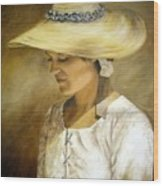 Milliners Daughter Wood Print