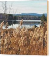 Millinocket Lake Wood Print