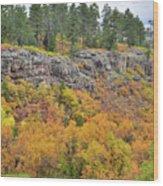 Million Dollar Highway Fall Color Wood Print