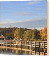 Mills Falls In October Wood Print