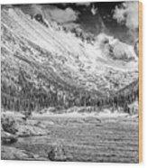 Mills Lake Monochrome Wood Print