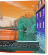 Millstone River Pop Art Wood Print