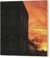 Millyard Sunset Wood Print
