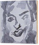 Milo Iv Wood Print by Khalid Alzayani