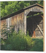 Milton Dye Covered Bridge  Wood Print