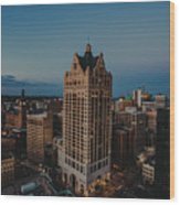 Milwaukee Aerial. Wood Print
