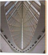 Milwaukee Art Museum Hall Wood Print