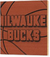 Milwaukee Bucks Leather Art Wood Print