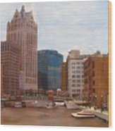 Milwaukee River View Wood Print
