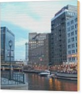 Milwaukee River Walk Wood Print