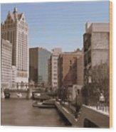 Milwaukee Riverwalk Wood Print