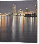 Milwaukee Skyline 2012 Wood Print