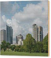 Milwaukee Skyline From Veterans Park 1 Wood Print