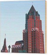 Milwaukee Sundown Wood Print