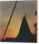 Milwaukee Sunrise 1 Wood Print