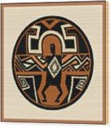 Mimbres Shaman Wood Print