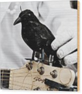 Mime's Guitar Accompanist Wood Print