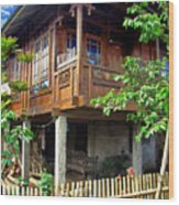 Minahasa Traditional Home 2 Wood Print