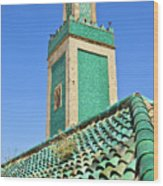 Minaret Of Grand Mosque Wood Print by Kelly Cheng Travel Photography