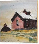 Mine Buildings Southern Cross Ghost Town Montana Wood Print