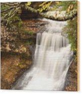 Miner Falls During Autumn Wood Print