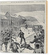 Miner Strike, 1888 Wood Print
