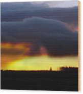 Minera Sunset 2 Wood Print