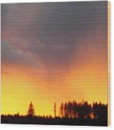 Minera Sunset Wood Print