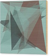 Mineral Polygon Pattern Wood Print