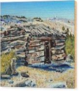 Miner's Cabin Wood Print