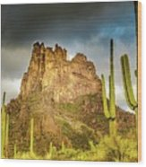 Miner's Needle In The Superstitions Wood Print