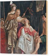 Minerva Crowns The Maid Of Leiden Wood Print