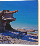 Mingan's Humanoid Monolith Wood Print