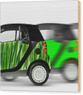 Mini Cars Wood Print