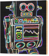 Mini D Robot Wood Print