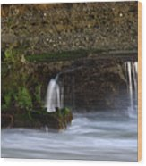 Mini Falls Laguna Beach Wood Print