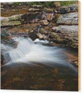 Mini Falls On The Peterskill I Wood Print