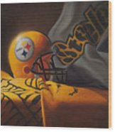 Mini Helmet Commemorative Edition Wood Print