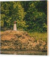 Mini Lighthouse Wood Print