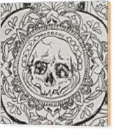 Skull Mandala Wood Print