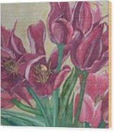 Mini-tulip Bouquet - 8 Wood Print