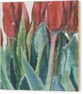 Mini-valentine Tulips - 2 Wood Print