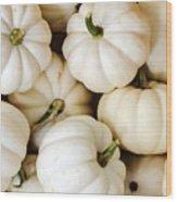Mini White Pumpkins Wood Print