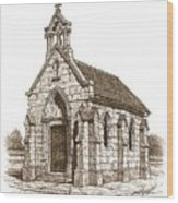 Miniature Church Of Froberville Wood Print