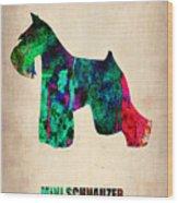 Miniature Schnauzer Poster 2 Wood Print by Naxart Studio