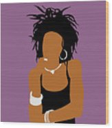 Minimalist Lauryn Hill Wood Print